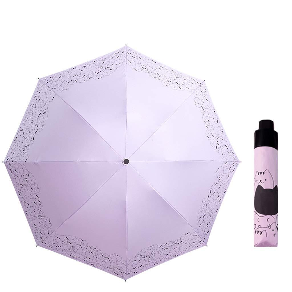 YSNBM Umbrella Inverted Folding Umbrella - Compact Lightweight Windproof Travel Reverse Umbrellas for Men Women Multiple Colors Windproof, Rainproof,UV Protection, Sunblock, Sun (Color : Purple)