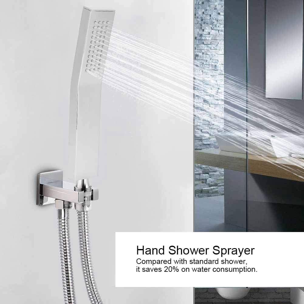 Handheld Shower Head High Pressure Shower Sprayer Thread Brass Hand held Rain Shower Bathroom Supplies