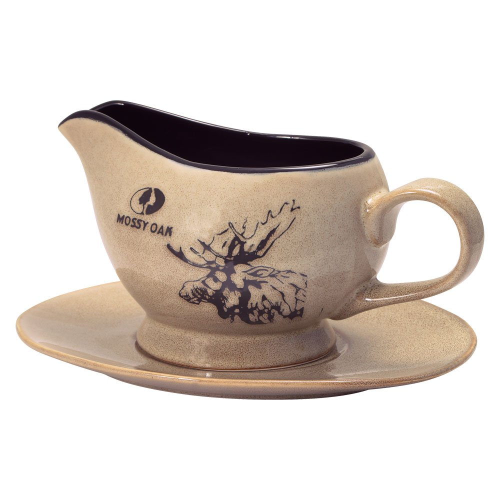Mossy Oak Animal Print Gravy Boat with Saucer Lifetime Brands Inc.