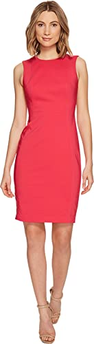 Calvin Klein Women's Sleeveless Sheath Dress with Princess Panels