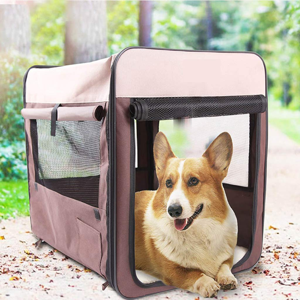 Factory Direct Pet Cage Kennel Multi-Function Collapsible Breathable Wear Pet Dog Bed Car Transport Dog Cage by SJCW-Pet Bed