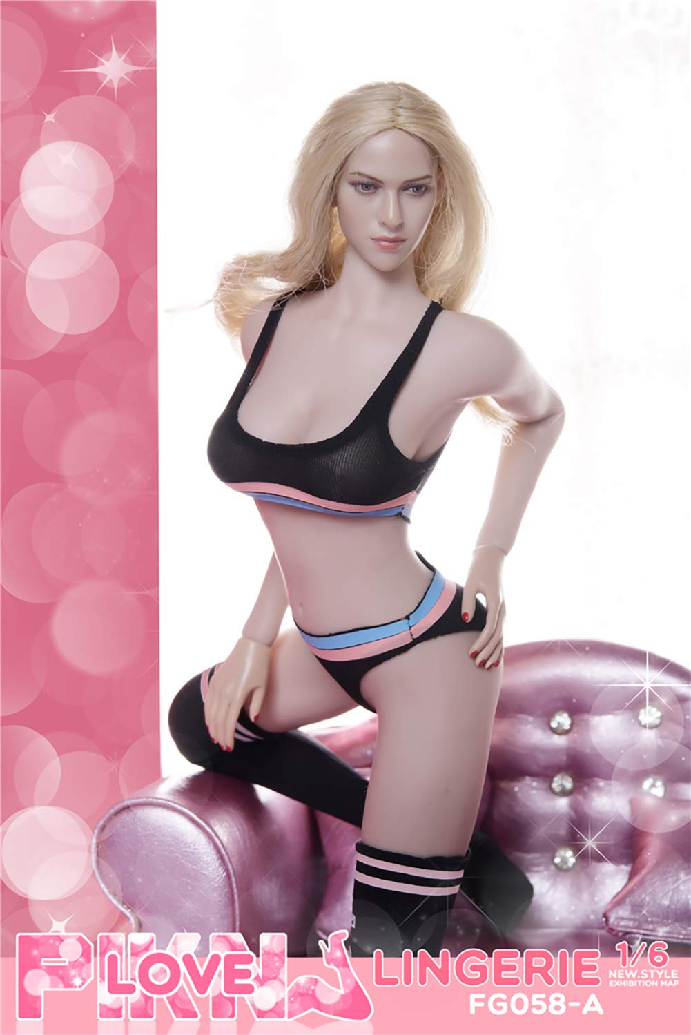 Black Phicen Limited Phicen Tbleague 1//6 Scale Sports Underwear Suit for 12 inch Female Body