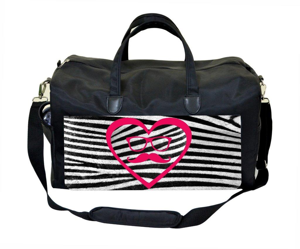 Pink and Black Zebra Print Weekender//Overnighter Bag