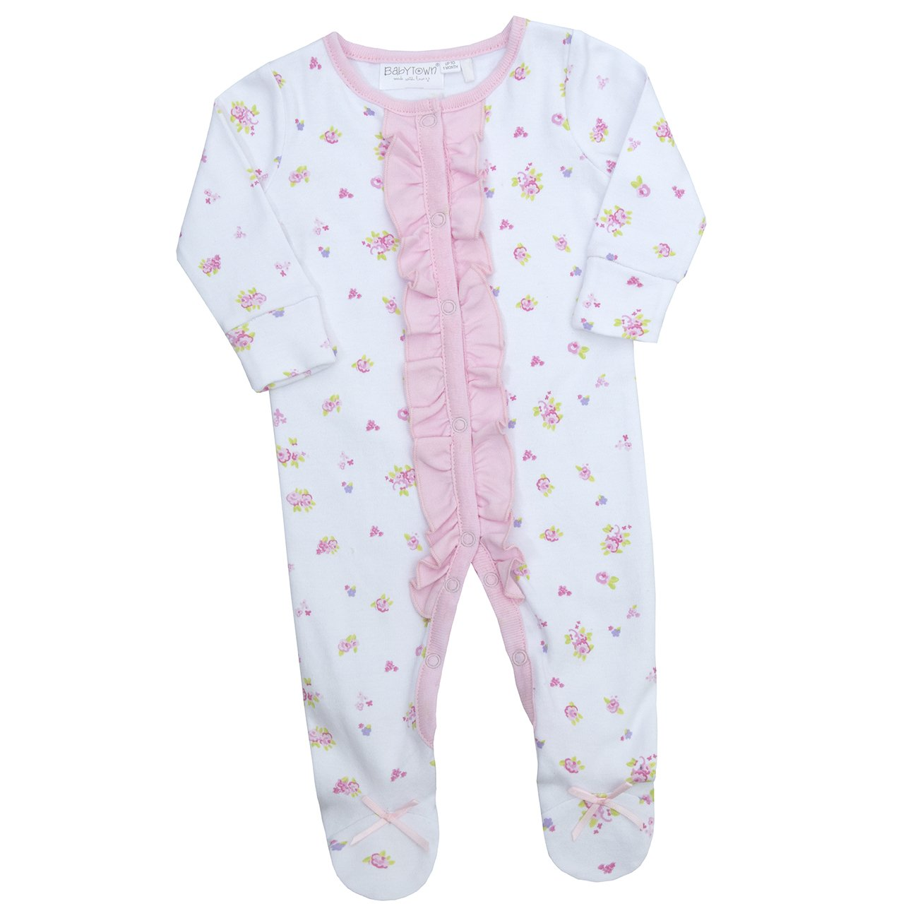 Babytown Premature Baby Angel Sleepsuit Babygrow with Scratch Mittens Pink, White, Blue