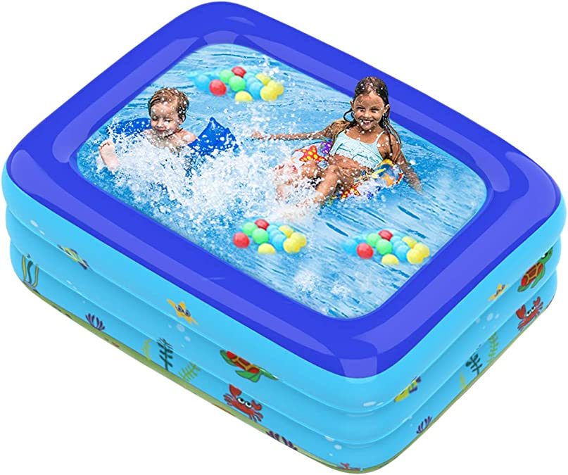 Haokaini Piscina Hinchable 120X72x23. Piscina Familiar Grande de 6 ...