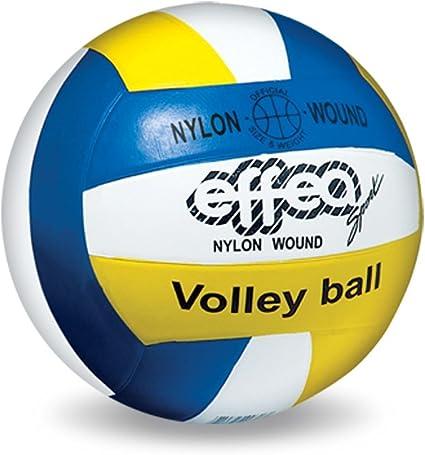 EFFEA 6830/5 Balón Voleibol, Blanco/Amarillo/Azul: Amazon.es ...