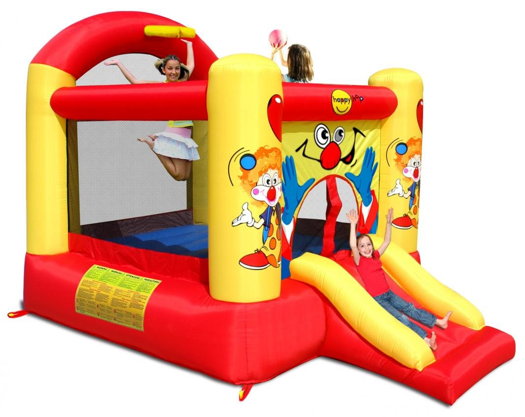Happy Hop- Clown Slide and Hoop Bouncer, Multicolor (9304Y ...