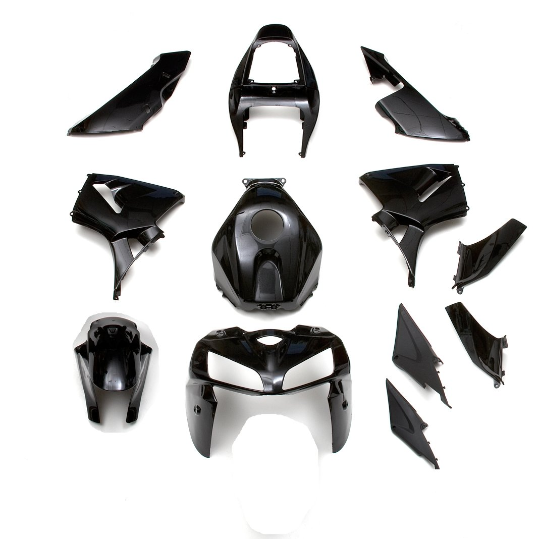 ZXMOTO Motorbike Bodywork Fairing Kit for Honda CBR600RR F5 2005-2006 Painted Glossy Black