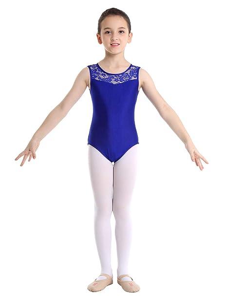 YiZYiF Maillot Danza Clásica Niñas Leotardo Ballet Gimnasia ...