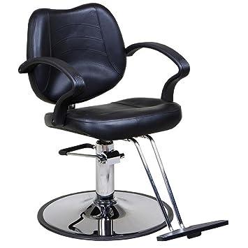 Etonnant Icarusu0026quot;Maeu0026quot; Black Classic Beauty Salon Hydraulic Styling Chair
