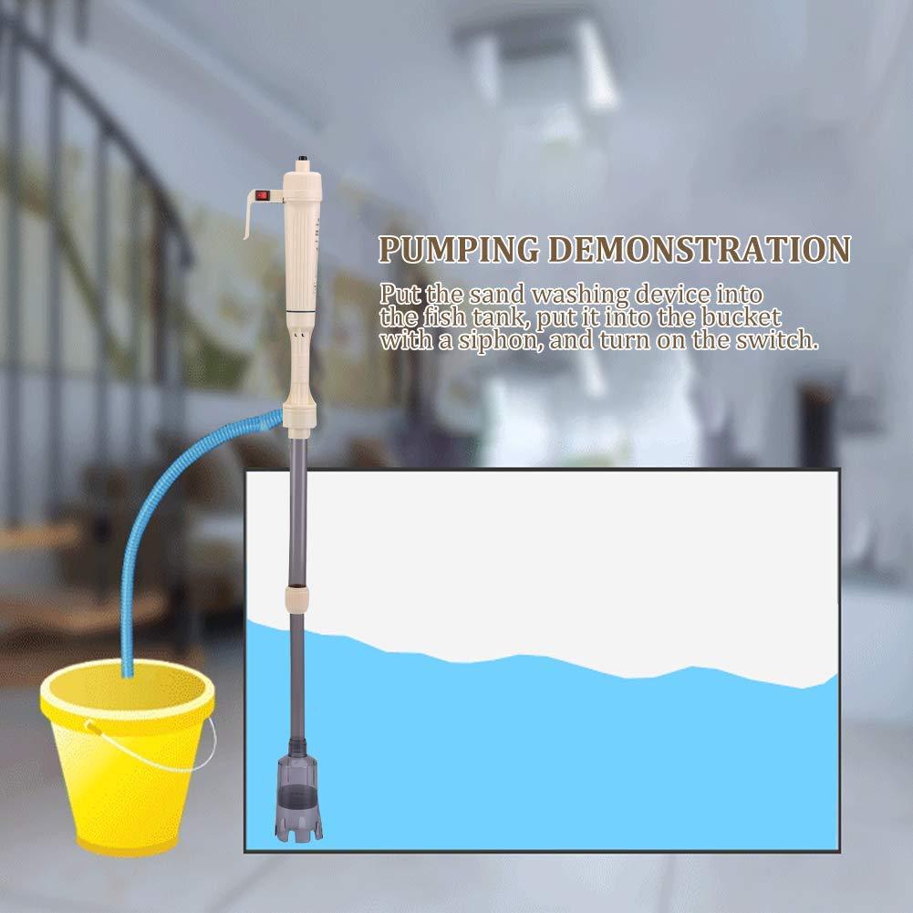 Limpiador de Acuario Lavadora de Tanque Peces con Pilas Cambio de Agua para Acuario Filtro de Bomba Sifón Herramienta de Limpieza: Amazon.es: Hogar