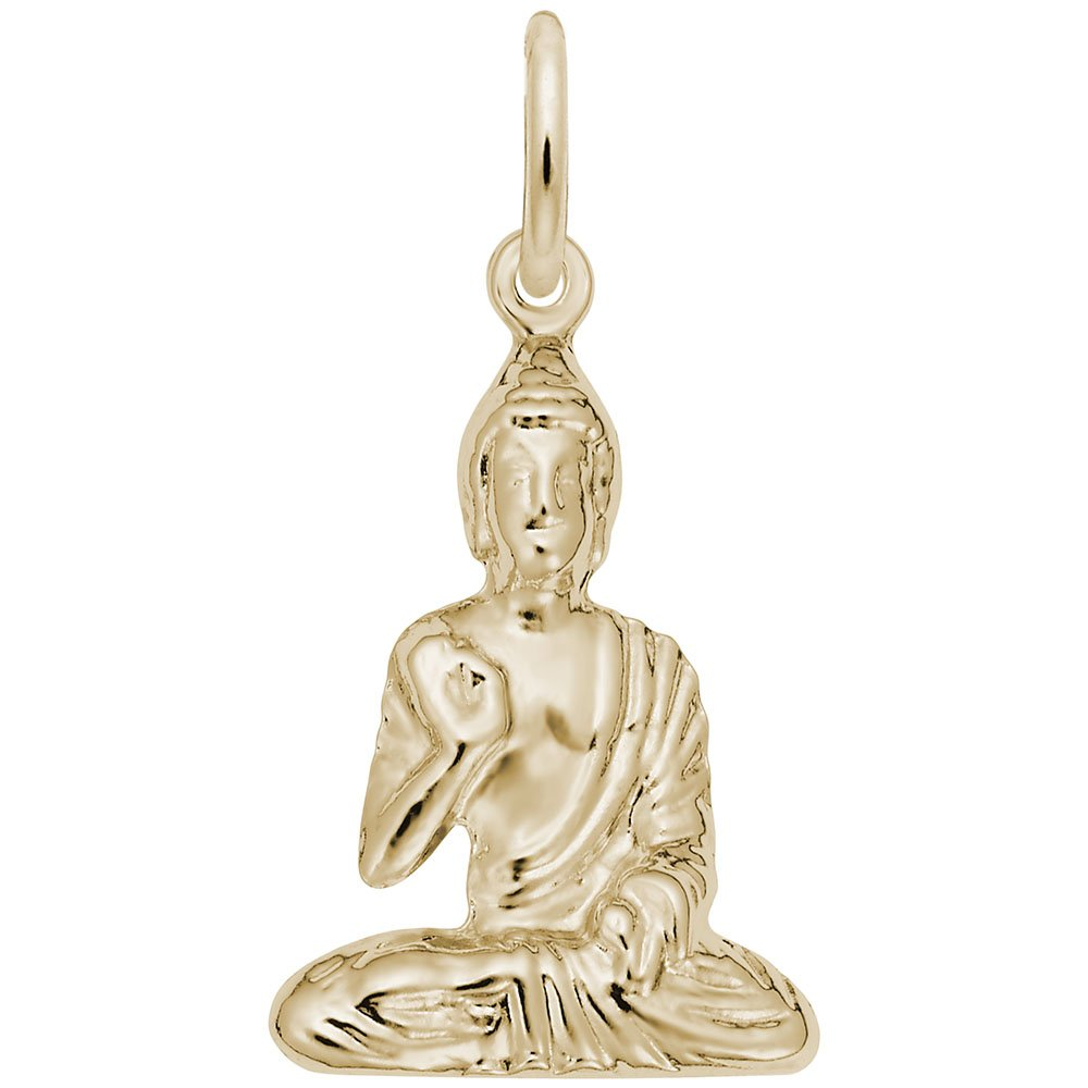 Rembrandt Charms, Buddha, 14K Yellow Gold, Engravable
