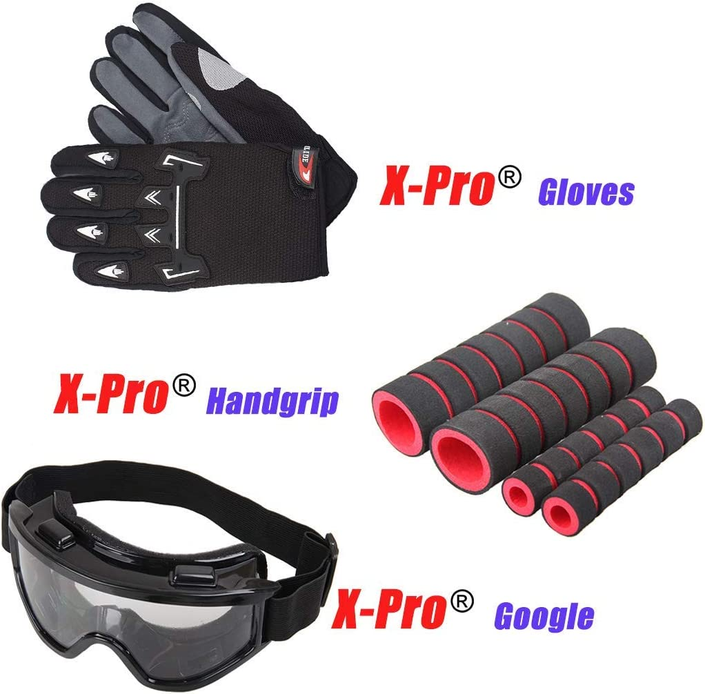 Goggle and Handgrip X-PRO 125cc Vader Gas Motorcycle Adult Motorcycle Dirt Motorcycle Street Bike Motorcycle Bike with Gloves