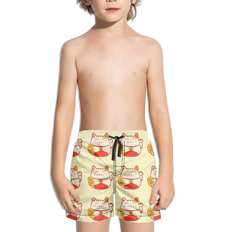 AnkasAsasd Boys Short Swim Trunks Pitbull Glasses Quick Dry Beach Shorts