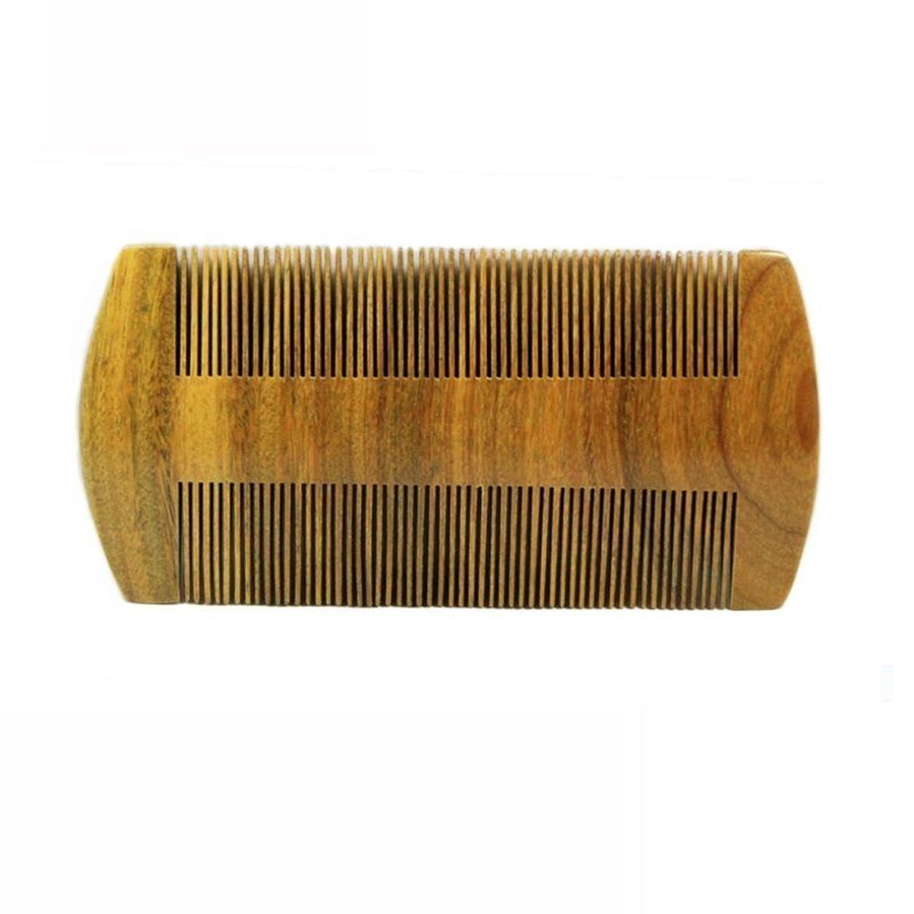 Fabal Wood Comb Pocket Beard Mustache Wooden Comb SmallFine Tooth Handmade Lice Comb (Brown)