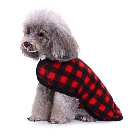 Smoro Otoño Invierno Ropa para Perros Chaleco Chaqueta de Lana cálida Mascota Perrito Ropa Tierras Altas
