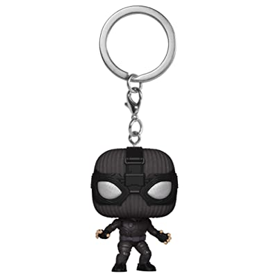 Funko Pop! Keychain: Spider-Man Far from Home - Spider-Man Stealth Suit: Toys & Games