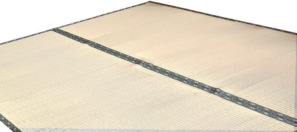 い草 ラグ カーペット 上敷き 本間8畳 約382×382cm ござ ごろ寝 和室 畳 シンプル 天然素材 京間 正方形 B07D539S8C  約382cm×382cm