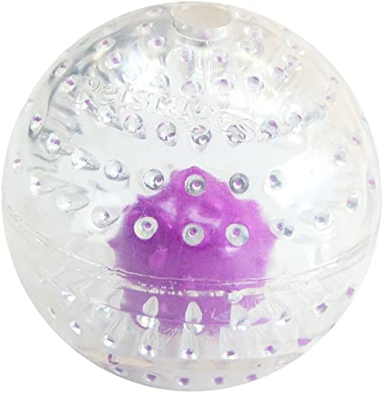 """Ethical Pets 54106 Play Strong Rubber Ball with Rope 3.75/"""" Red"""