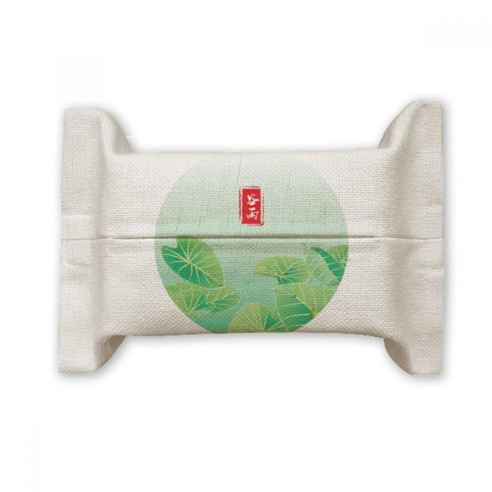 DIYthinker Circlar Grain Rain Twenty Four Solar Term Cotton Linen Tissue Paper Cover Holder Storage Container Gift