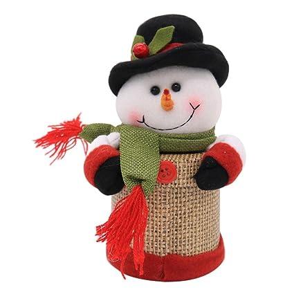 demiawaking Navidad Candy caja Papá Noel Muñeco de nieve Elk figura contenedor soporte de almacenamiento tarro