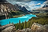 Tomorrow sunny L017 Lake louise Canada lake Mountains landscape Poster Art Wall Pictures for Living Room Canvas Fabric Cloth Print
