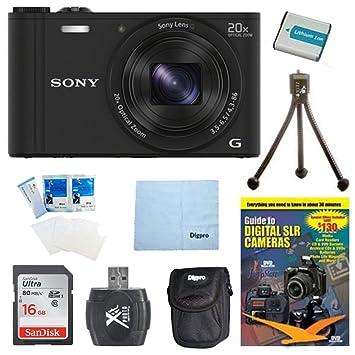 Amazon.com: Sony WX350 DSC-WX350 dscwx350b DSC-WX350/B 18 MP ...