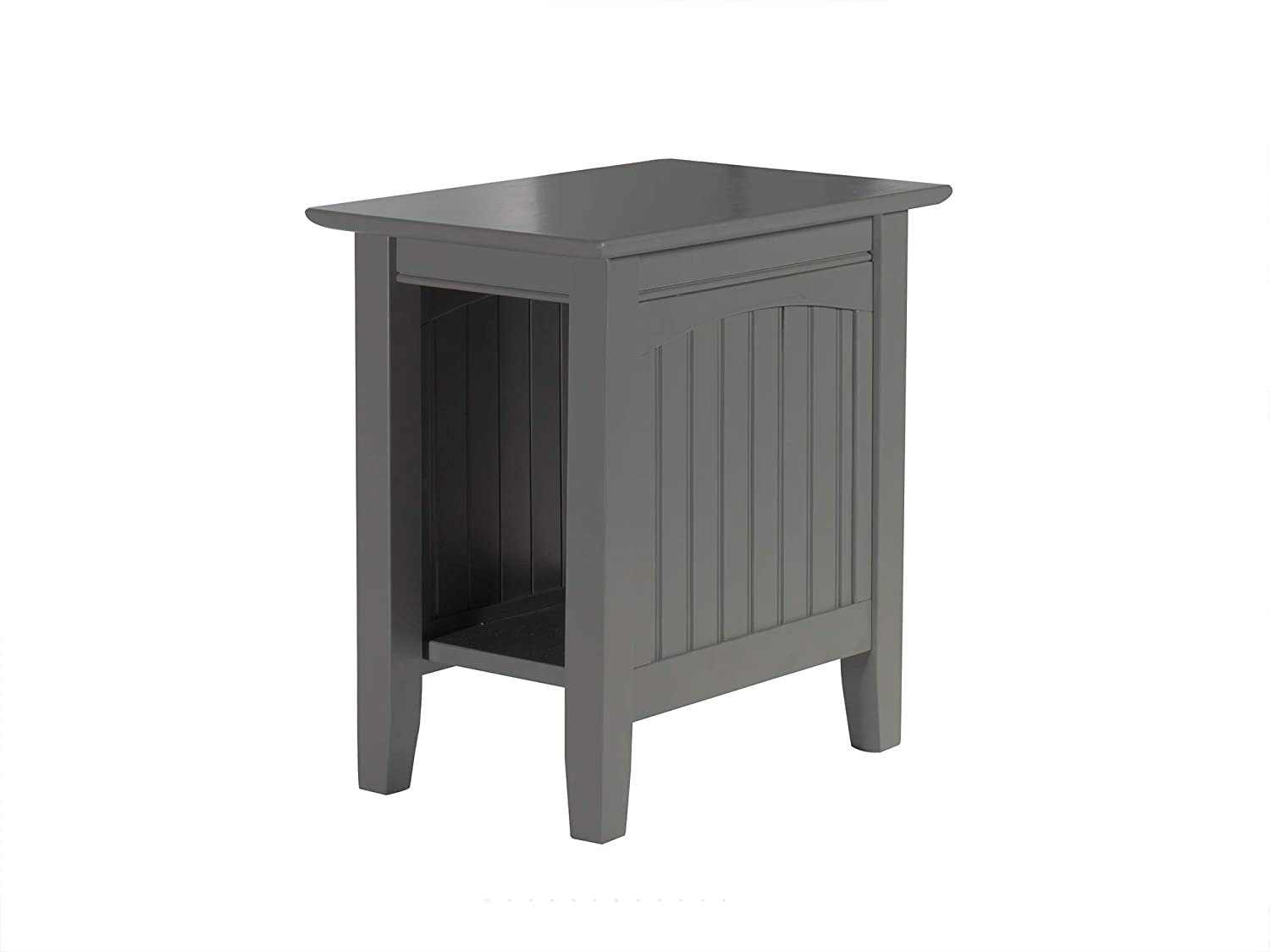 Atlantic Furniture AH13309 Nantucket Side Table Wood Chair (22' x 14'), Grey