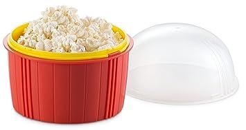 Palomitas de maíz eléctrica microondas comida casera y sana sin aceite sin BPA Zap Chef Poppin
