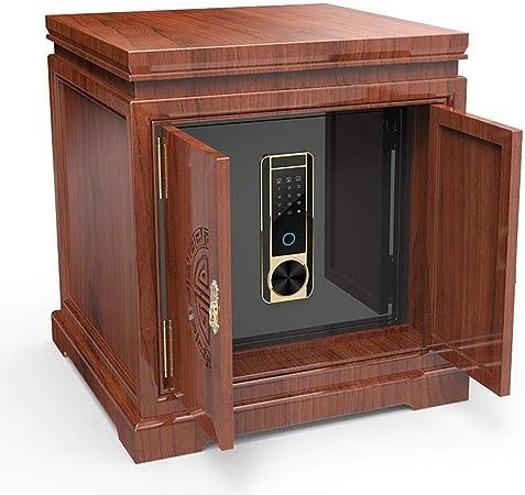 Vobajf Caja de Seguridad Seguro del hogar Pequeño Invisible Chino sólido de Noche Segura de Acero antirrobo Teclado de Inicio Seguro (Color : Marrón, Size : 46x64x54cm): Amazon.es: Hogar