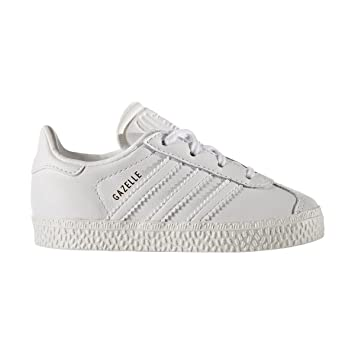 adidas Gazelle I – Chaussures deportivaspara Enfants, Blanc – (Ftwbla/Ftwbla/Ftwbla