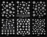RuiChy 12 Sheet Christmas Snowflakes Design 3D Nail Art Stickers Decals