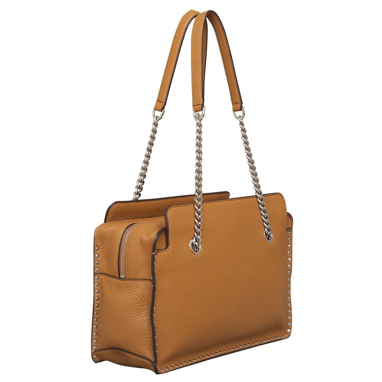 fc2db3cec790 Michael Kors Astor Large Leather Satchel Acorn  Handbags  Amazon.com