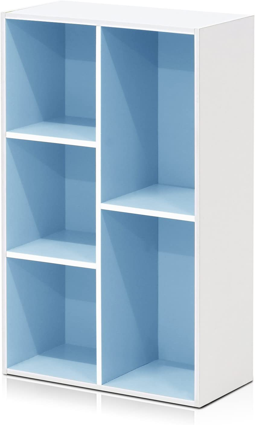 Furinno Bookcases Wood White Light Blue One Size Amazon Co Uk