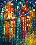 The Colors of Paris is a Limited Edition print from the Edition of 400. The artwork is a hand-embellished, signed and numbered Giclee on Unstretched Canvas by Leonid Afremov. Embellishment on each of these pieces will be slightly different, but the i...