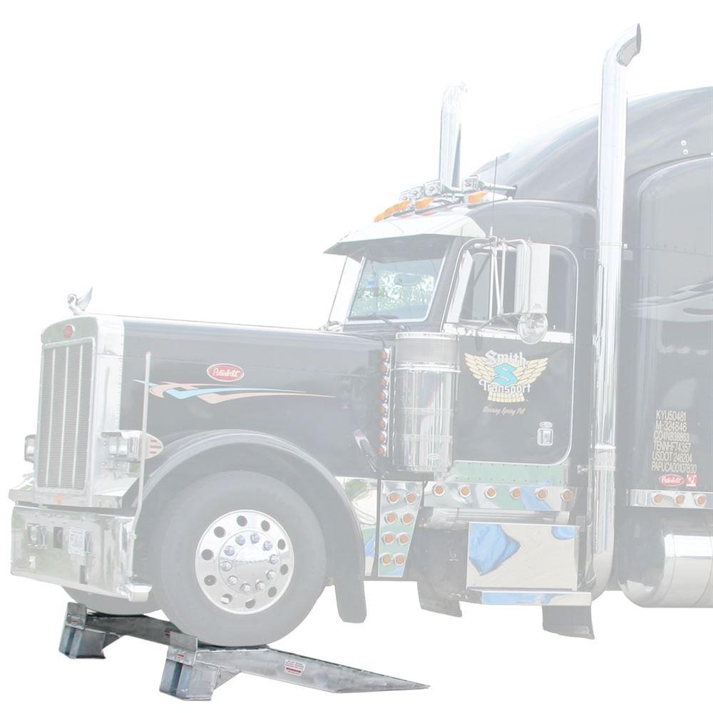 Pair of Aluminum Semi Truck Wheel Riser Service Ramps