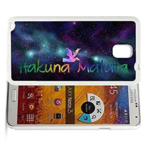 Africa Ancient Proverb HAKUNA MATATA Color Accelerating Universe Star Design Pattern HD Durable Hard Plastic Case Cover for Samsung Galaxy Note 3