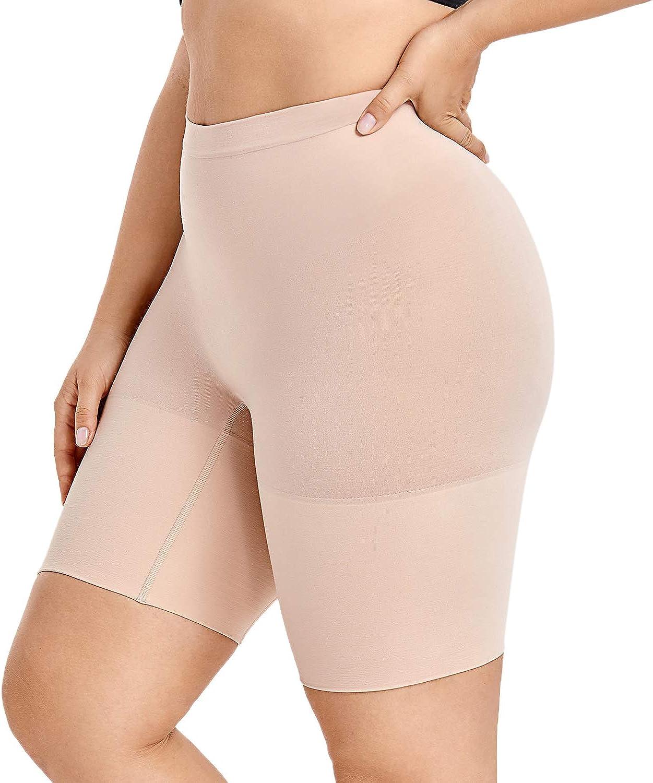 TOPMELON Womens Thigh Slimmer Body Shaper Panties Slip Shorts High Waist Tummy Control Shapewear