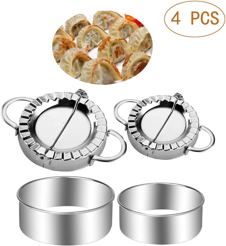Stainless Steel Dough Press Dumpling Maker Mold Pastry Cutter Kitchen Tool Set