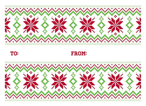 #17 Mini Envelopes (2 11/16 x 3 11/16) - Sweater Pattern (50 Qty) | Perfect for Wedding, Parties, Event Favors, Place Cards, Holiday Gifts and Year End Gratuity | LEVC-H01-50