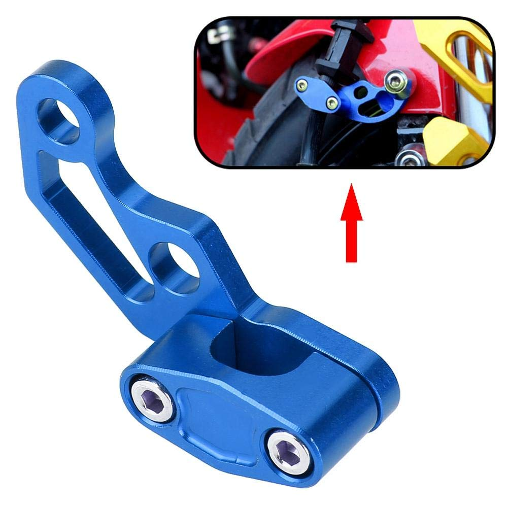 Blue Qii lu Universal Motorcycle Brake Line Clamps Aluminium Alloy Motocross Motorbike Brake Clutch Cable Wire Clamp Clip Modified Motorcycle Accessories