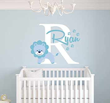 Amazoncom Personalized Lion Name Wall Decal Baby Boy Room Decor