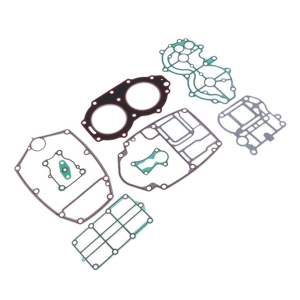 Baoblaze Qulaity Outboard Motors Cylinder Gasket Kit Fits Yamaha 2 Stroke 40HP Engine