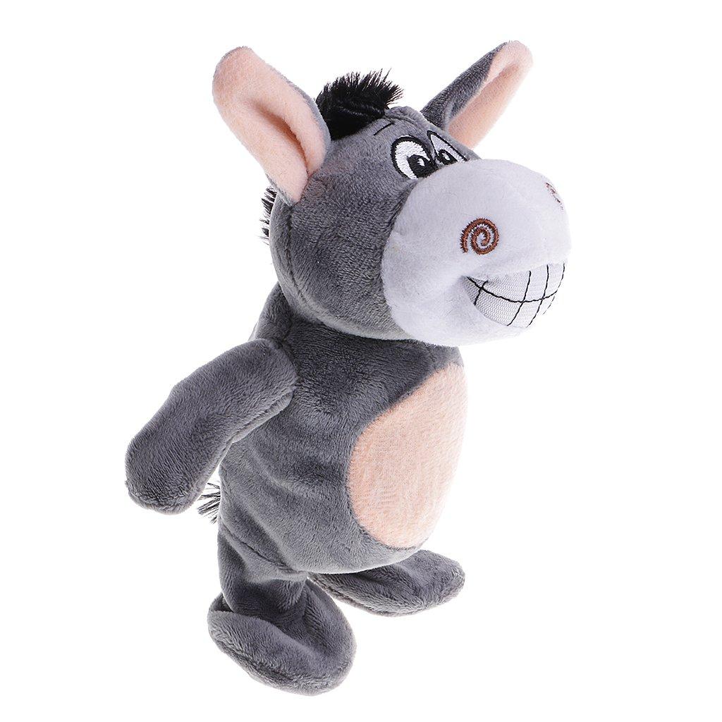 MagiDeal Sprechende Tiere Kuscheltier Plü schtier Spielzeug, Talking Toy for Kids - Burro 0514000960001DEA
