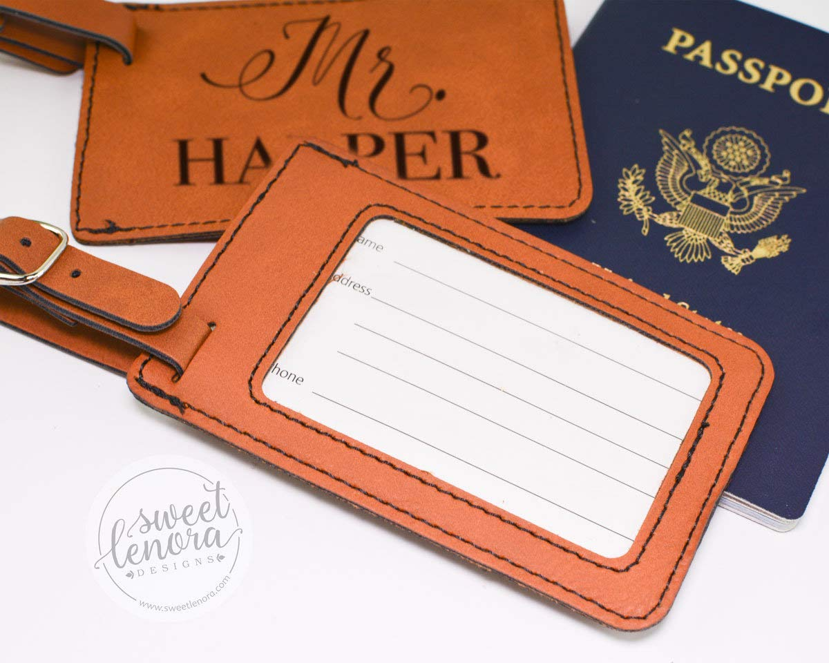Mr Personalized Luggage Tags and Mrs