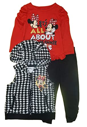 fe713dc2b343 Amazon.com  Disney Baby   Toddler Girl s Minnie Mouse Red   Black ...