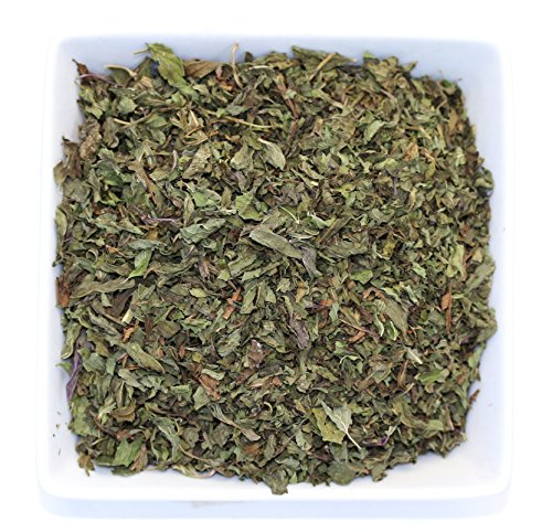 Leaves Pure Teas Herbal Tea - Tealyra - Pure Peppermint - Herbal Loose Leaf Tea - Best Egyptian Mint Tea - Supports Digestive Health - Naturally High in Menthol - Soothing Anti-Inflammatory - Caffeine Free - 112g (4-ounce)