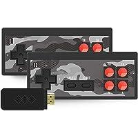 ABCDJHH Y2SHD Plus videospelskonsol trådlös spelkonsol minispelkonsol ps1/PSP HD dubbel TV-spelkonsol 1700 spel (låda…