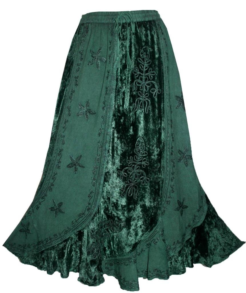 Agan Traders 552 Sk Dancing Gypsy Medieval Renaissance Vintage Skirt (L/XL, H Green) by Agan Traders (Image #1)
