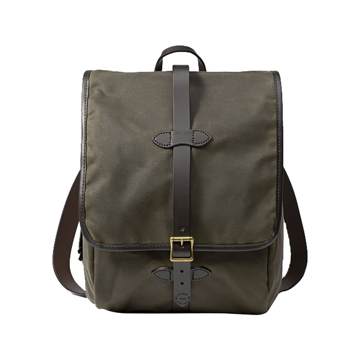 Filson Unisex Tin Cloth Backpack Otter Green 1 Backpack